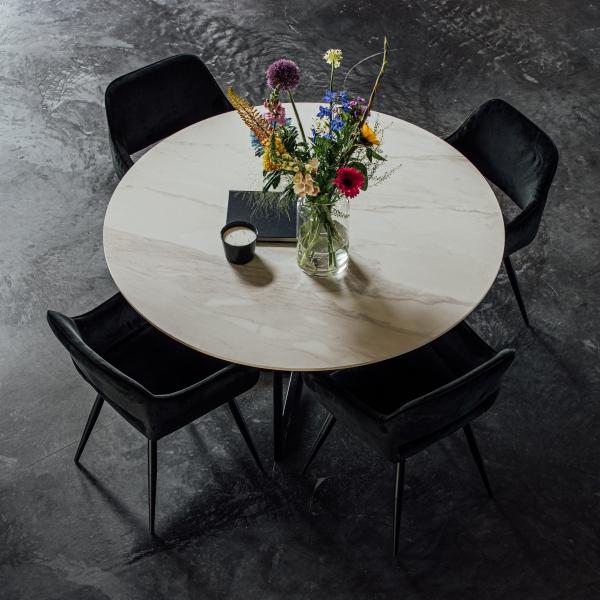 Keramische tafels marmerlook gouden details calacatta