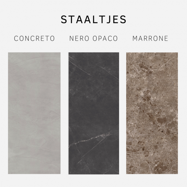 Staaltjes Concreto, Nero opaco, Marrone