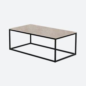 Keramische tafels Angelina betonlook taupe rechte salontafel