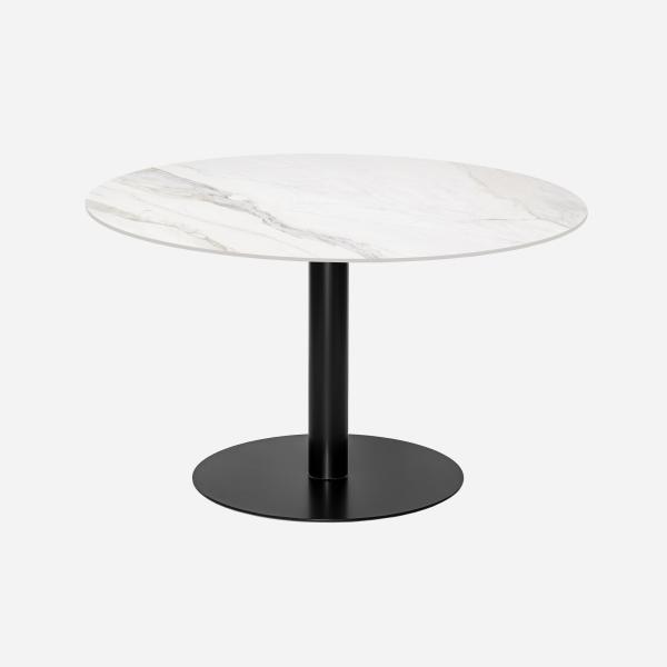 Keramische tafels rond Giorgia calacatta marmerlook blad