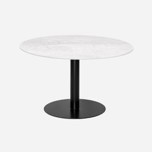 Keramische tafels rond Giorgia Carrara marmerlook blad