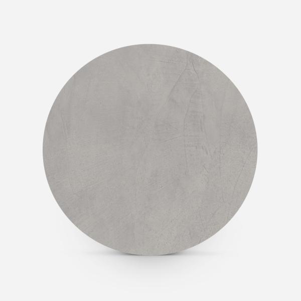 Bovenaanzicht ronde tafel betonlook