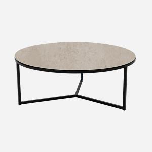 Keramische tafels Salontafel Rond Concreto Taupe Julia